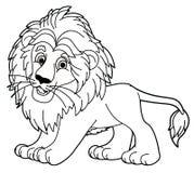 Tecknad filmdjur - lejon - karikatyr Royaltyfri Foto