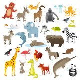 Tecknad filmdjursamling stock illustrationer