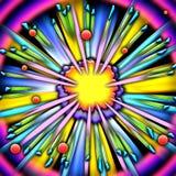 tecknad filmexplosionram Fotografering för Bildbyråer