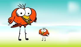 Tecknad filmfåglar Royaltyfria Bilder