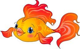tecknad filmfiskguld stock illustrationer