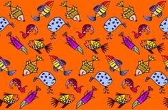 Tecknad filmfiskmodell stock illustrationer