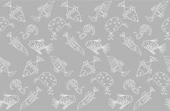 Tecknad filmfiskmodell royaltyfri illustrationer