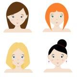 Tecknad filmflickatecken royaltyfri illustrationer