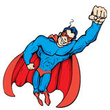 tecknad filmflyget maskerade upp superheroen Royaltyfria Bilder