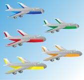 Tecknad filmflygplan Royaltyfri Foto