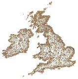 Tecknad filmfolkmassa, UK och Irland Royaltyfri Fotografi