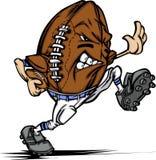 tecknad filmfotbollsspelare för amerikansk boll Royaltyfria Bilder