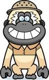 Tecknad filmGibbon safari stock illustrationer