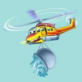 Tecknad filmhelikopter Royaltyfri Foto