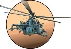 tecknad filmhelikoptervektor royaltyfri illustrationer