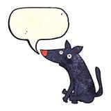 tecknad filmhund med anförandebubblan Arkivfoto