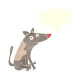 tecknad filmhund med anförandebubblan Royaltyfri Foto