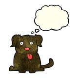 tecknad filmhund med tankebubblan Arkivfoton