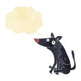 tecknad filmhund med tankebubblan Fotografering för Bildbyråer