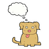 tecknad filmhund med tankebubblan Arkivbild