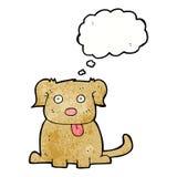 tecknad filmhund med tankebubblan Royaltyfri Fotografi