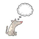 tecknad filmhund med tankebubblan Arkivbilder