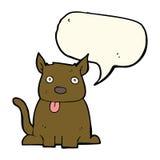 tecknad filmhund som ut klibbar tungan med anförandebubblan Royaltyfria Bilder