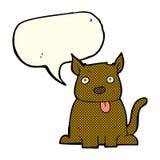 tecknad filmhund som ut klibbar tungan med anförandebubblan Royaltyfria Foton