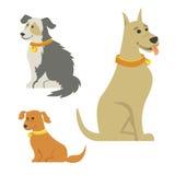 Tecknad filmhundkapplöpning Royaltyfri Bild