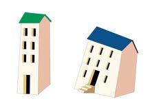 tecknad filmhus stock illustrationer