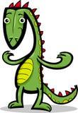 Tecknad filmillustration av ödlan eller dinosauren Royaltyfri Foto