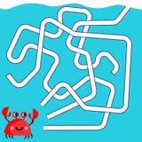 Tecknad filmillustration av banor eller Maze Puzzle Activity Game Ungar som lär leksamlingen fotografering för bildbyråer
