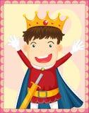 Tecknad filmillustration av en konung Royaltyfria Bilder