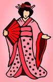 Tecknad filmjapankvinna vektor illustrationer