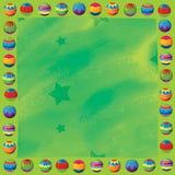 Tecknad filmjul gränsar - illustrationen för barnen Royaltyfri Foto