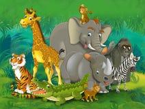 Tecknad filmjunge - illustration för barnen Arkivfoto