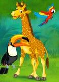 Tecknad filmjunge - illustration för barnen Royaltyfri Fotografi