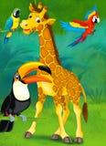 Tecknad filmjunge - illustration för barnen Arkivbild