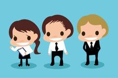 Tecknad filmkarriär om kontor royaltyfri illustrationer