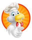Tecknad filmkock Chicken Arkivfoto