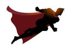 Tecknad filmkontur av ett superheroflyg vektor illustrationer