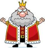 Tecknad filmkonung Angry royaltyfri illustrationer