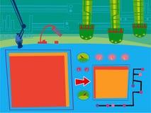 tecknad filmlokalsäkerhet vektor illustrationer