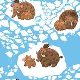 Tecknad filmmodell med mammoths Arkivfoton