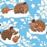 Tecknad filmmodell med mammoths Royaltyfri Foto