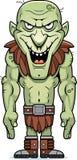 Tecknad filmondskaelakt troll stock illustrationer