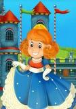 Tecknad filmprinsessan - medeltida tider Arkivfoton