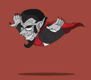 Tecknad filmräkning Dracula. Allhelgonaaftonmonster Stock Illustrationer
