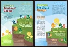 Tecknad filmreklamblad - älskvärd design för broschyr vektor illustrationer