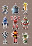 Tecknad filmrobotsticers stock illustrationer