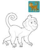 Tecknad filmsafari - färgläggningsida för barnen Fotografering för Bildbyråer