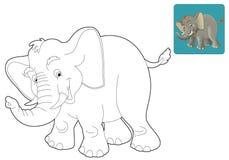 Tecknad filmsafari - färgläggningsida för barnen Royaltyfri Fotografi