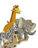 Tecknad filmsafari - illustration för barnen Royaltyfri Bild