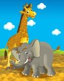 Tecknad filmsafari - illustration för barnen Fotografering för Bildbyråer